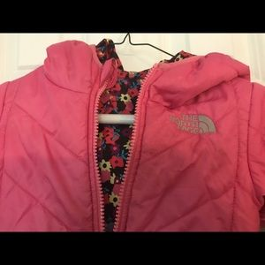 The North Face Jackets & Coats - Pink reversible North Face winter jacket